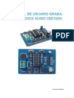 Manual Tarjeta Graba-Reproduce Audio (ISD1820)