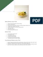 Resep bakwan Jamur