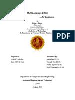 Design Report on Editor Final