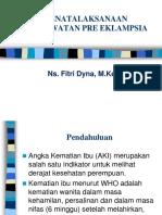 Pre Eklampsia Seminar (Ns. Fitri Dyna, m.kep)
