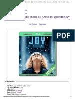 Joy_ El Nombre Del Éxito (2015) Web-dl 1080p Hd Mkv Español Latino _ Pelismegahd _ 1080p - 720p - 3d Sbs - Dvdrip - Mkv