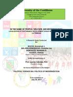 Localization of SDGs in Baguio City and La Trinidad- 2017