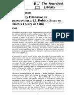 Fredy Perlman - Commodity Fetishism