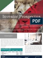 Investor Prospectus Khonology