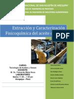 Informe Extracción de Aceite de Oliva