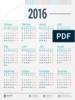 1090 Monday 2016 Calendar Template