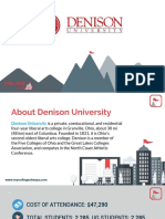 Study Abroad at Denison University, Admission Requirements, Courses, Fees
