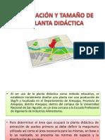 Localización y Tamaño de La Planta Didáctica