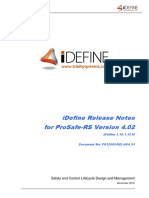 IDefine for ProSafe-RS Release Notes