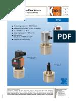 Piston Flowmeter