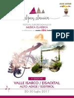 Opuscolo seconda edizione Alpenclassica Festival a Bressanone ed in Valle d'Isarco