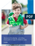 Resources for Playing - Providing Loose Parts to Support Children's Play - A Toolkit Play Wales