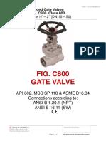 Gate Valve - 800#