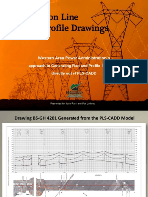 Drafting Transmission Plan and Profile Drawings Directly From PLS