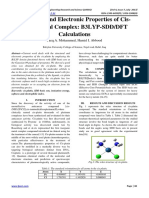Structural and Electronic Properties of Cis-platin Metal Complex