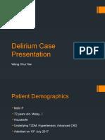 Delirium Case Presentation