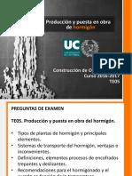 TE05. Producción y Puesta en Obra de Hormigón