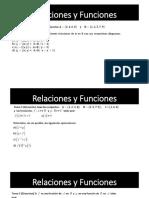 Clase de Funciones y Relaciones