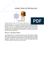 Shockley Diode Working and Advantages
