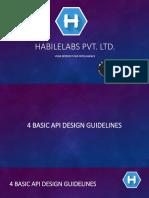 4 Basic API Design Guidelines
