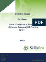 Level 3 Certificate in Principles of HR Practice QCF PHR3
