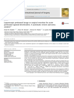 Laparoscopic Peritoneal Lavage or Surgical Resection for Acute Perforated Sigmoid Diverticulitis-A Systematic r