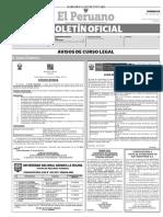 Diario Oficial El Peruano, Edición 9758. 16 de julio de 2017