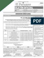 Diario Oficial El Peruano, Edición 9756. 14 de julio de 2017