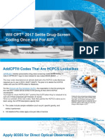 Will CPT® 2017 Settle Drug-Screen Coding Once and For All?