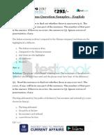 IBPS PO Prelims Question Samples - English & Quant