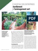 Paysage actualités - RSE, une norme naturellement en phase avec l'aménagement vert
