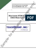Mastering HTML5 CSS3