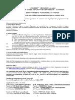 Udsm Advert - Postgraduate Programme Final Feb 2017