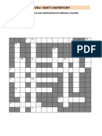 Sudoku on Kent's Repertory
