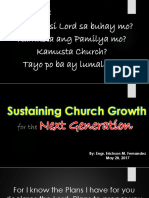 Sustaining Church Growth for the Next Generation May 28,2017