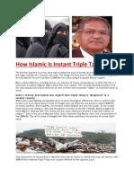How Islamic is Instant Triple Talaq
