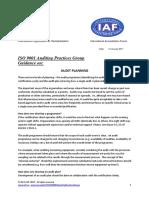 APG Audit Planning