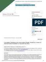 Factores Laborales de Equilibrio Entre Trabajo y Familia _ Medios Para Mejorar La Calidad de Vida