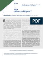 Conseil d'Analyse Économique Note Dépenses Publiques