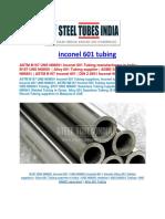 Inconel 601 Tubing