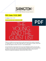 Duncan Dixson Washington Life Magazine Young and Guest List 2007