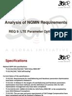 09 - SA5 Analysis of NGMN Requirement 9 - LTE Parameter Optimization.ppt