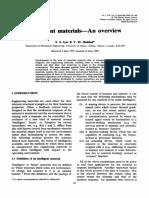 Intelligent Materials - An Overview