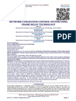 NETWORK CONGESTION CONTROL SYSTEM USING FRAME RELAY TECHNOLOGY