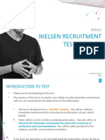 Nielsen Recruitment Test