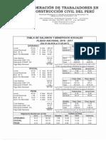 TABLA DE SALARIOS Y BENEFICIOS SOCIALES PLIEGO NACIONAL 2016 - 2017.pdf