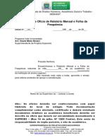 Modelo de Ofício Folha de Frequência 20151