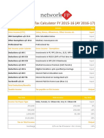 Income Tax Calculator FY 2015 16