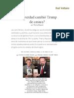 ¿de Verdad Cambió Trump de Casaca_, Por Thierry Meyssan