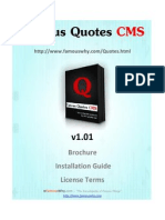 Famous Quotes CMS Brochure - The most powerful, affordable, flexible, feature rich script for your website